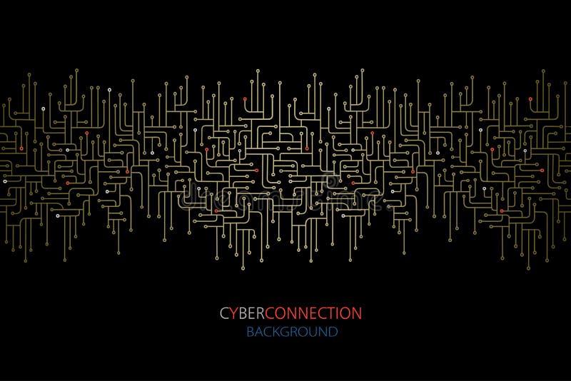 Ηλεκτρονικό υπόβαθρο κυκλωμάτων σύνδεσης Cyber Spu Σχέδιο γραμμών κυκλωμάτων στοκ φωτογραφία με δικαίωμα ελεύθερης χρήσης