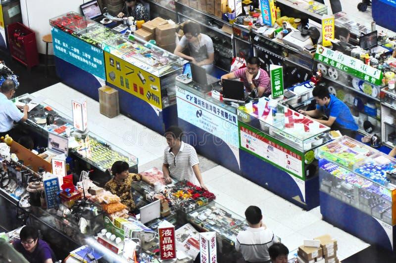 ηλεκτρονικό plaza huaqiang στοκ φωτογραφία με δικαίωμα ελεύθερης χρήσης