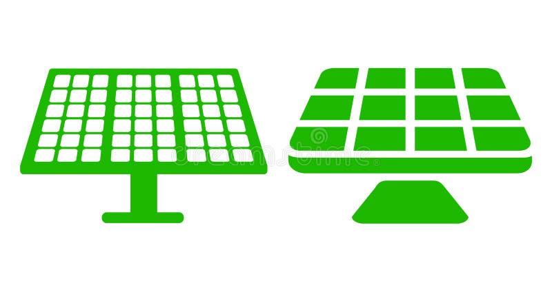 Ηλιακή μπαταρία δύο - διάνυσμα ελεύθερη απεικόνιση δικαιώματος