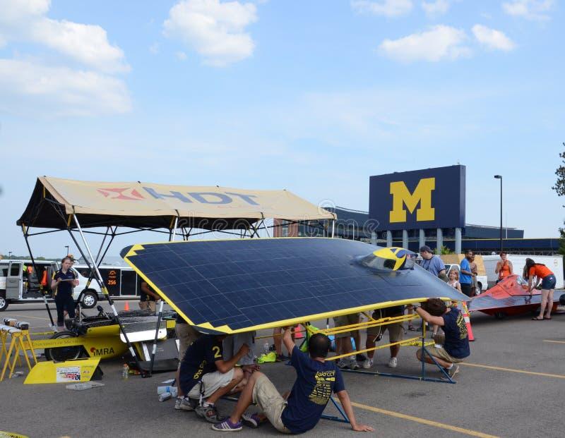 Ηλιακή ομάδα αυτοκινήτων Πανεπιστήμιο του Michigan στοκ φωτογραφίες
