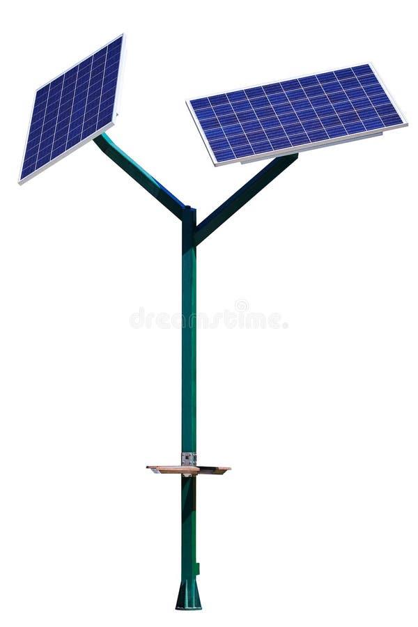 Ηλιακός φορτιστής μπαταριών τα κινητές τηλέφωνα και τις συσκευές που απομονώνονται για στοκ φωτογραφίες
