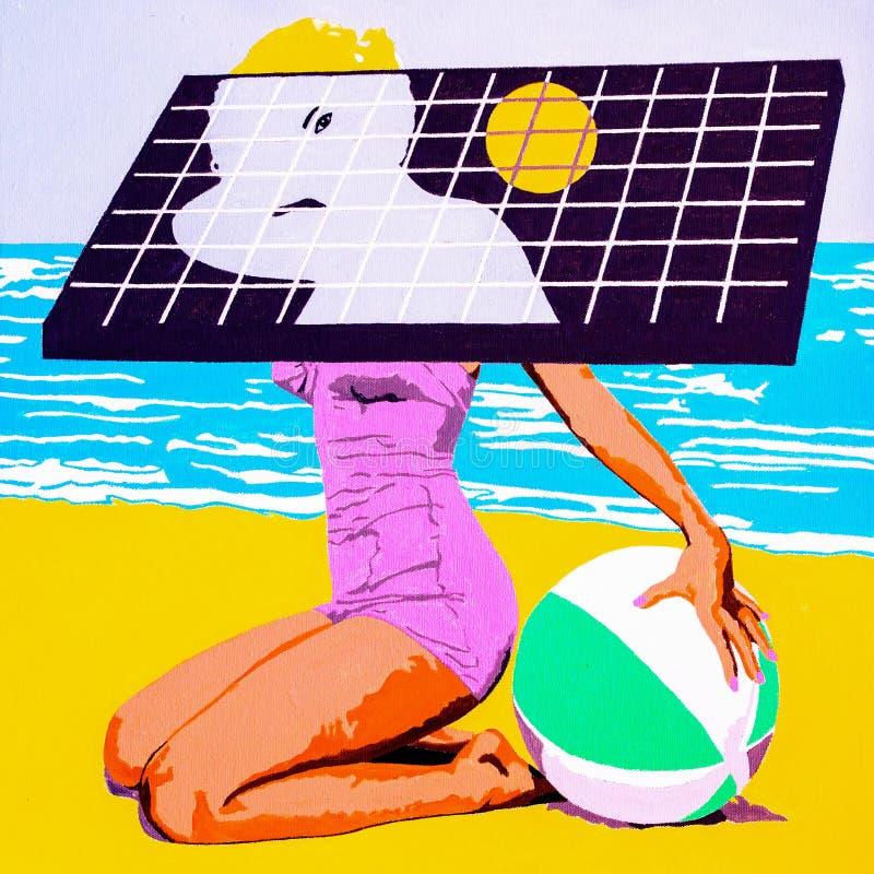 Ηλιακό κορίτσι στοκ εικόνα με δικαίωμα ελεύθερης χρήσης