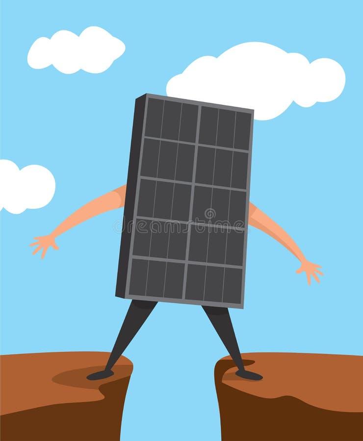 Ηλιακό πλαίσιο που στέκεται πέρα από το χάσμα ελεύθερη απεικόνιση δικαιώματος