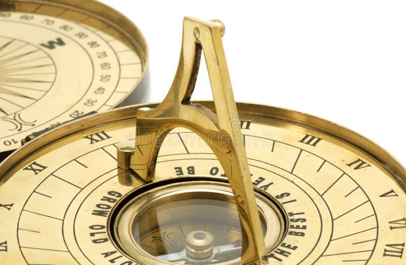 ηλιακό ρολόι ορείχαλκο&upsi στοκ φωτογραφίες
