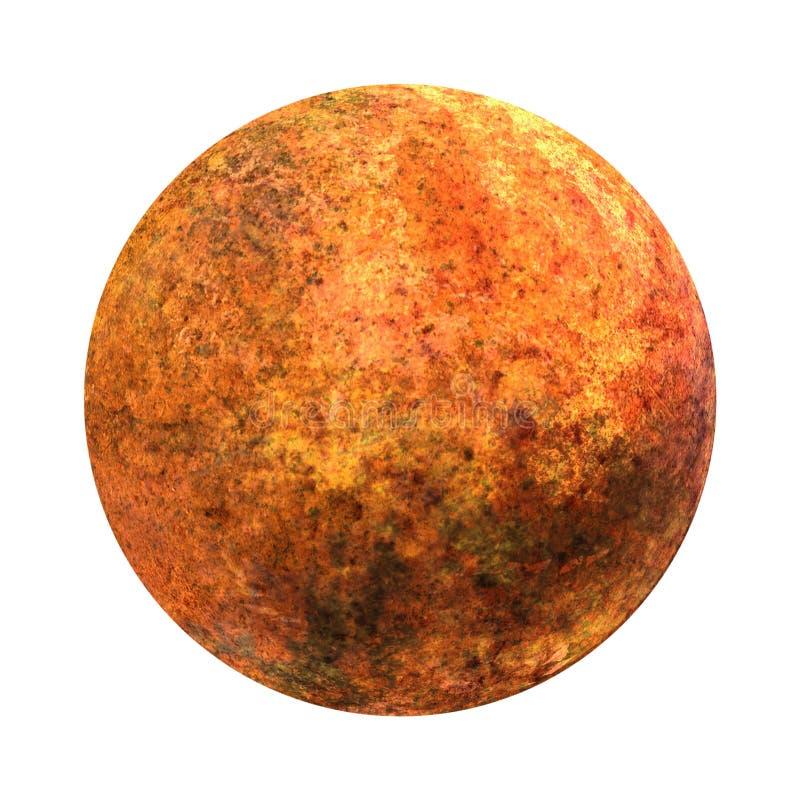 ηλιακό σύστημα Αφροδίτη Απομονωμένος πλανήτης στο άσπρο υπόβαθρο Η όμορφη τέχνη υψηλής ανάλυσης παρουσιάζει τον πλανήτη του ηλιακ απεικόνιση αποθεμάτων