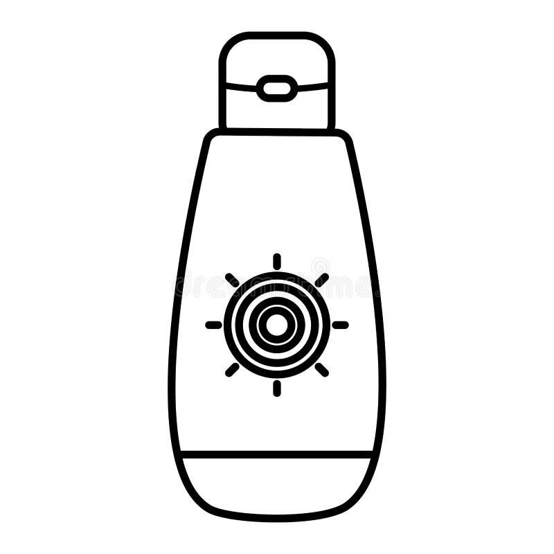 Ηλιακό blocker θερινό προϊόν μπουκαλιών ελεύθερη απεικόνιση δικαιώματος