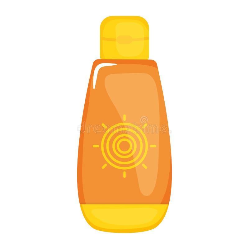 Ηλιακό blocker θερινό προϊόν μπουκαλιών διανυσματική απεικόνιση