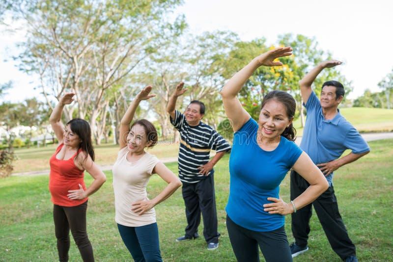 Ηλικίας άσκηση ανθρώπων στοκ εικόνα
