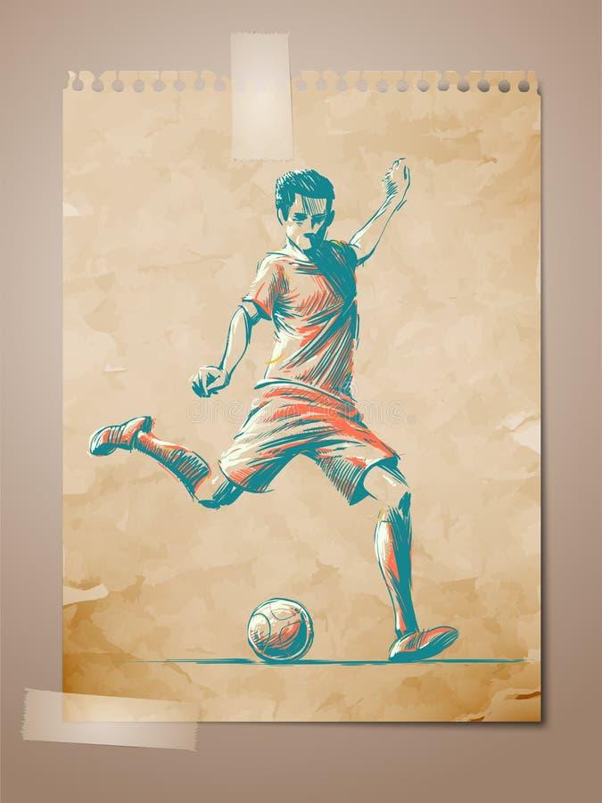 ηλικίας ποδόσφαιρο σκίτσων φορέων σημειώσεων ποδοσφαίρου pape ελεύθερη απεικόνιση δικαιώματος