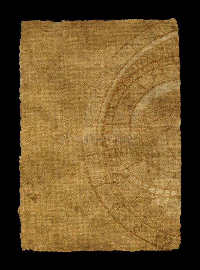 ηλικίας zodiac εγγράφου ρολ&omic απεικόνιση αποθεμάτων