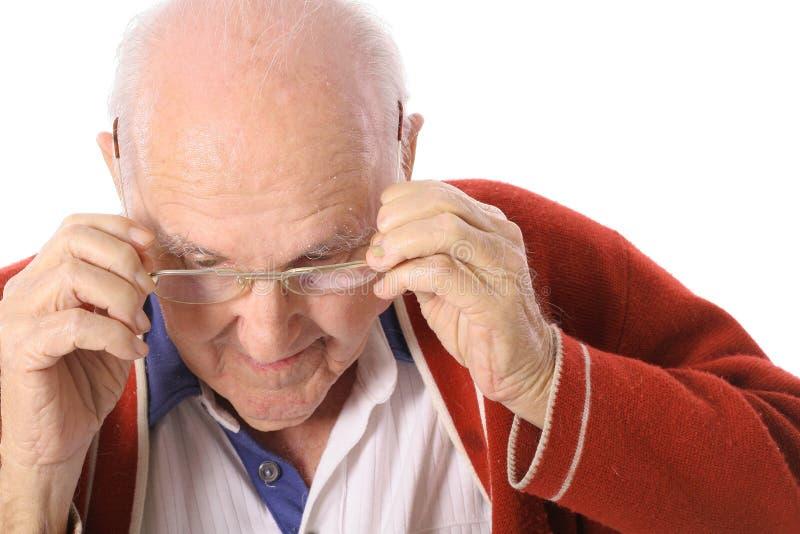 ηλικιωμένα γυαλιά το άτομό στοκ φωτογραφία με δικαίωμα ελεύθερης χρήσης