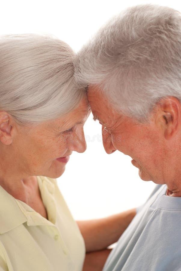 Ηλικιωμένο ζεύγος από κοινού στοκ εικόνα