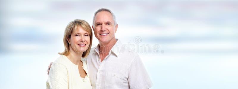 Ηλικιωμένο πορτρέτο ζευγών στοκ εικόνα με δικαίωμα ελεύθερης χρήσης