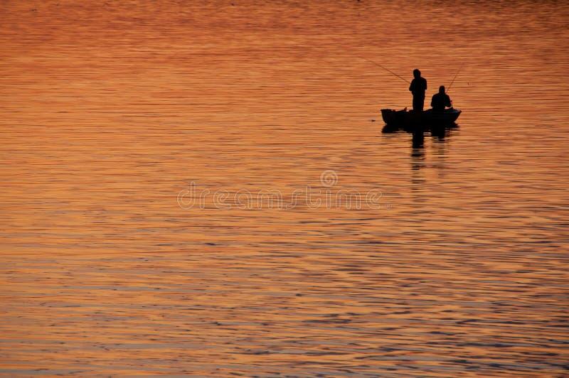 ηλιοβασίλεμα αλιείας στοκ φωτογραφίες με δικαίωμα ελεύθερης χρήσης