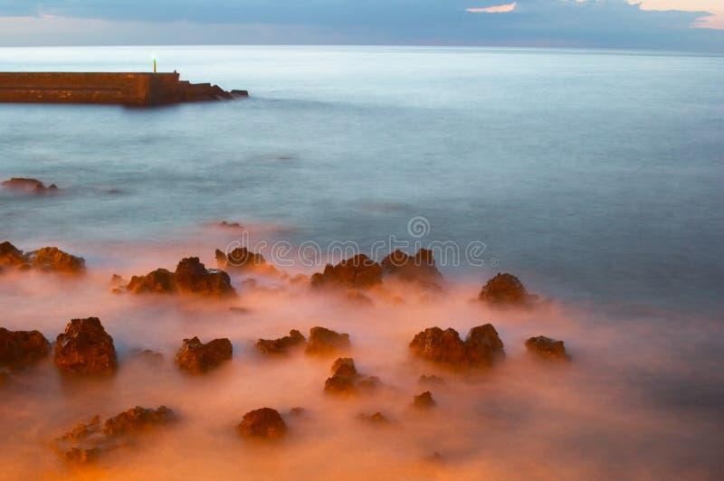ηλιοβασίλεμα αναγνωρι&sigm στοκ φωτογραφία με δικαίωμα ελεύθερης χρήσης