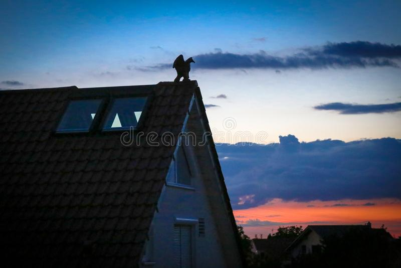 Ηλιοβασίλεμα από τη Στουτγάρδη Γερμανία στοκ εικόνες