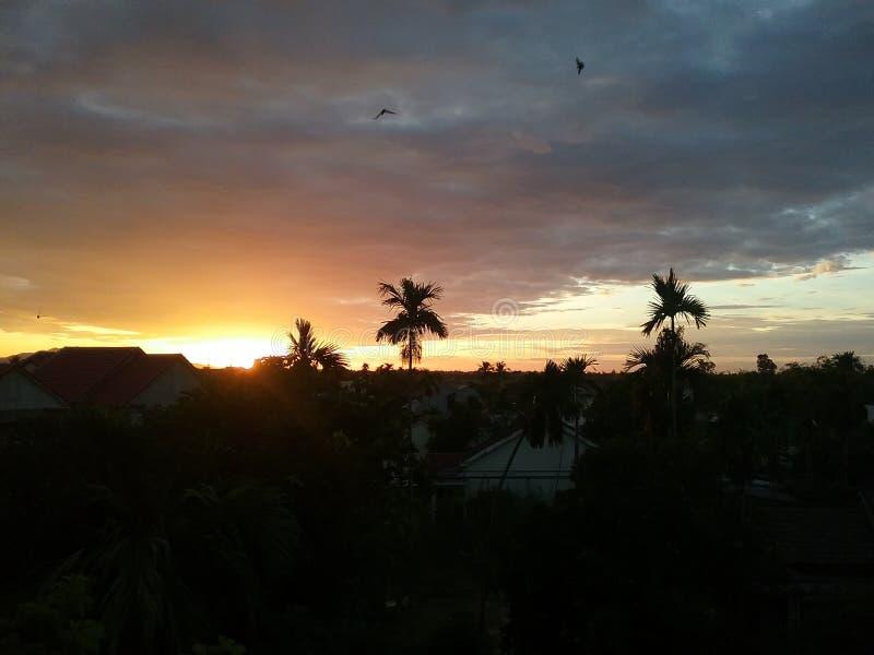 Ηλιοβασίλεμα Βιετνάμ στοκ εικόνες