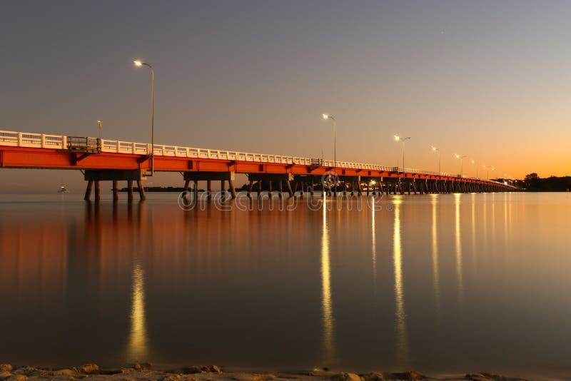 Ηλιοβασίλεμα γεφυρών νησιών Bribie στοκ φωτογραφίες με δικαίωμα ελεύθερης χρήσης