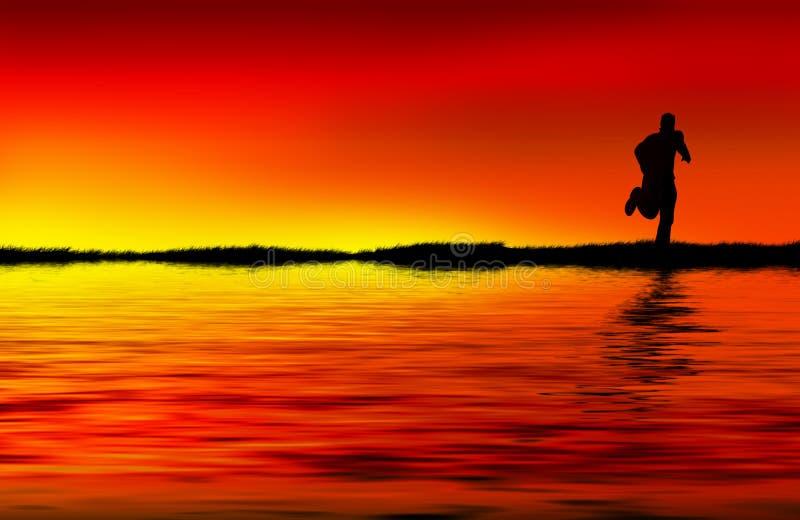 ηλιοβασίλεμα δρομέων στοκ εικόνα