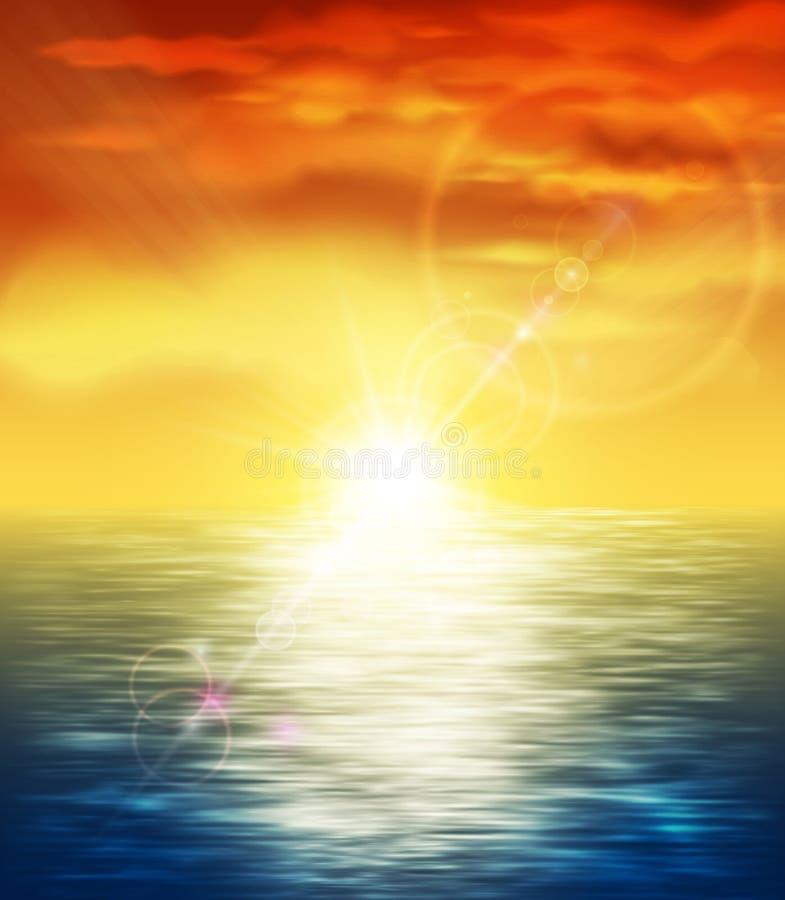 Ηλιοβασίλεμα εν πλω απεικόνιση αποθεμάτων
