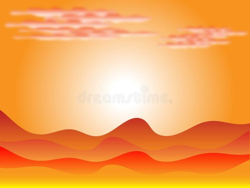 ηλιοβασίλεμα ερήμων ελεύθερη απεικόνιση δικαιώματος