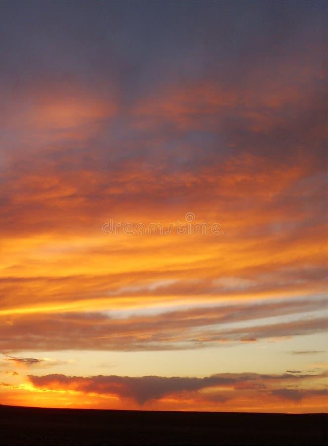 ηλιοβασίλεμα ερήμων στοκ εικόνα με δικαίωμα ελεύθερης χρήσης