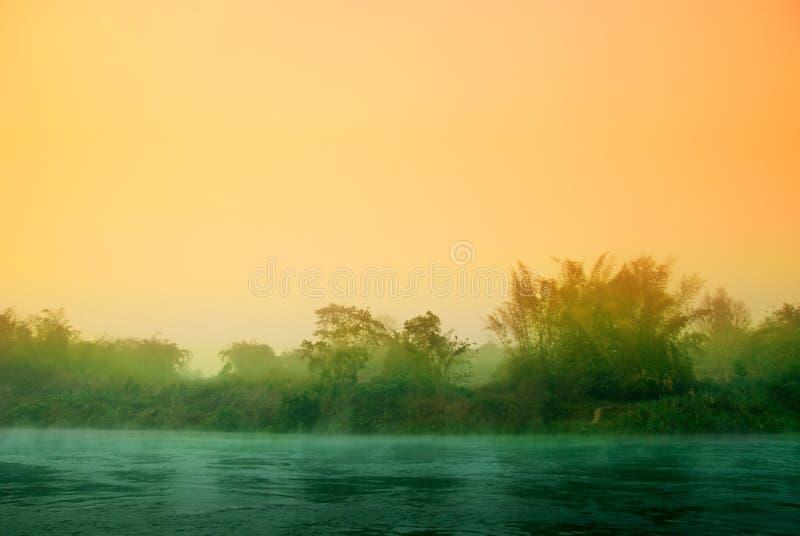 ηλιοβασίλεμα ζουγκλών στοκ φωτογραφίες