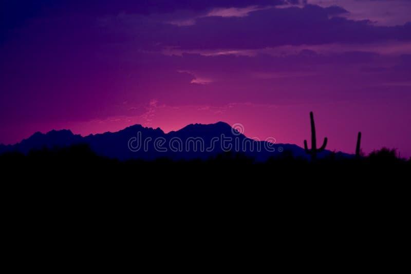 ηλιοβασίλεμα ΗΠΑ δυτικό στοκ εικόνες με δικαίωμα ελεύθερης χρήσης