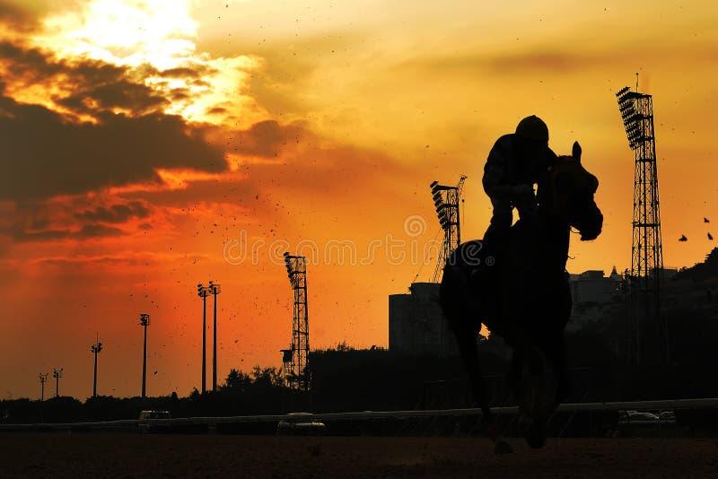 ηλιοβασίλεμα ιπποδρόμου στοκ φωτογραφίες με δικαίωμα ελεύθερης χρήσης