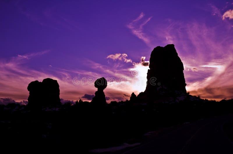 ηλιοβασίλεμα ισορροπίας στοκ εικόνες με δικαίωμα ελεύθερης χρήσης