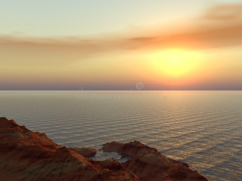ηλιοβασίλεμα κίτρινο διανυσματική απεικόνιση