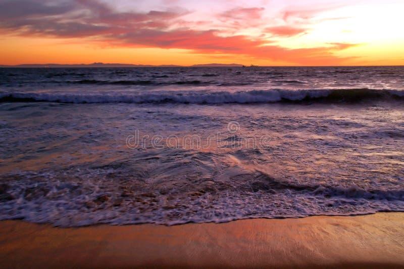 ηλιοβασίλεμα Καλιφόρνι&al στοκ φωτογραφία με δικαίωμα ελεύθερης χρήσης