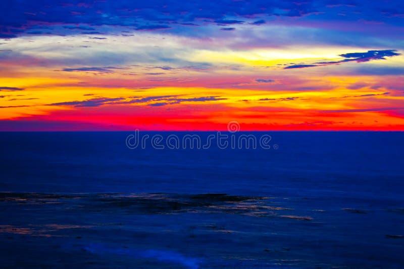 ηλιοβασίλεμα Καλιφόρνι&al στοκ εικόνα