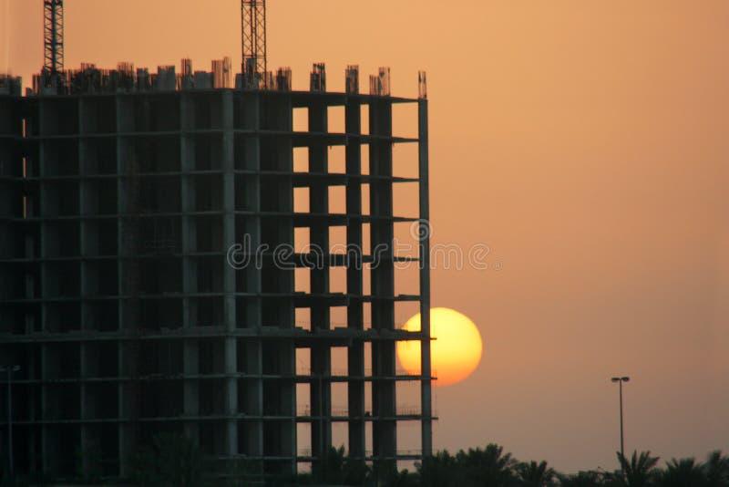 ηλιοβασίλεμα κόλπων στοκ εικόνα