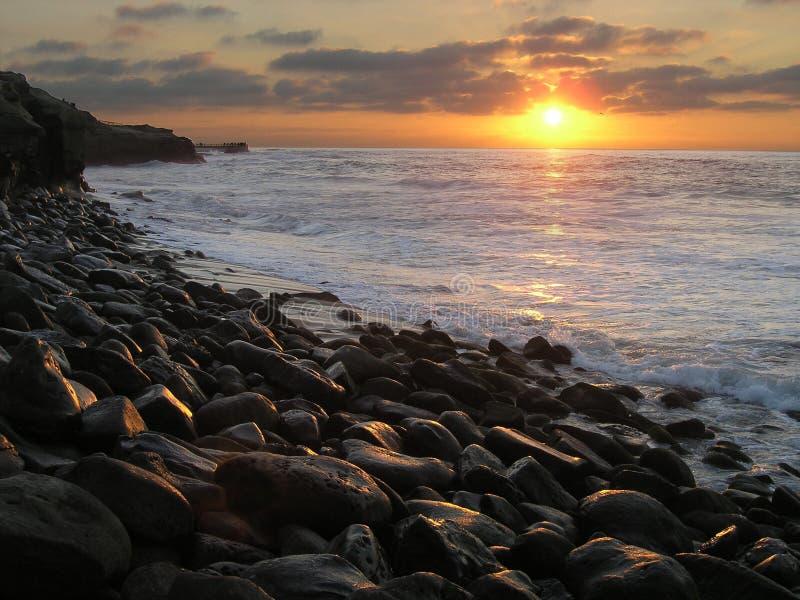 ηλιοβασίλεμα Λα jolla στοκ εικόνα με δικαίωμα ελεύθερης χρήσης