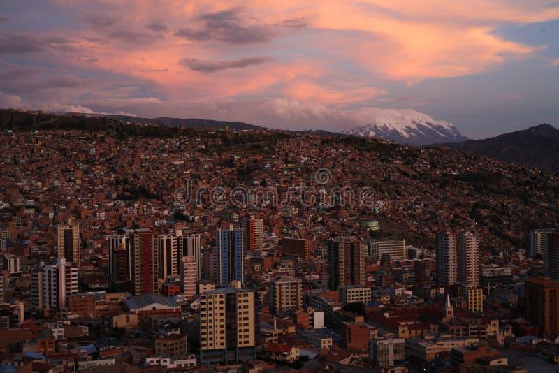 ηλιοβασίλεμα Λα paz στοκ φωτογραφία με δικαίωμα ελεύθερης χρήσης
