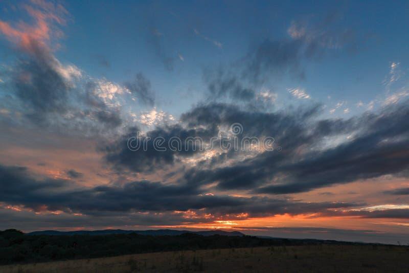 Ηλιοβασίλεμα λόφων Malvern στοκ φωτογραφία με δικαίωμα ελεύθερης χρήσης
