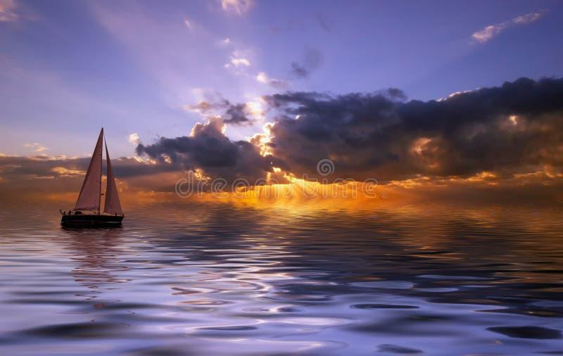 ηλιοβασίλεμα ναυσιπλ&omicro στοκ φωτογραφία με δικαίωμα ελεύθερης χρήσης
