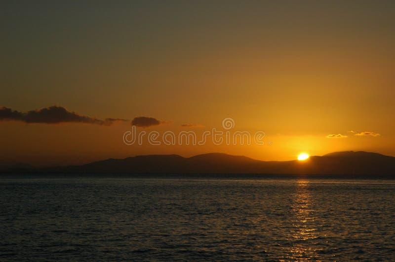 ηλιοβασίλεμα νησιών whitsunday στοκ εικόνες