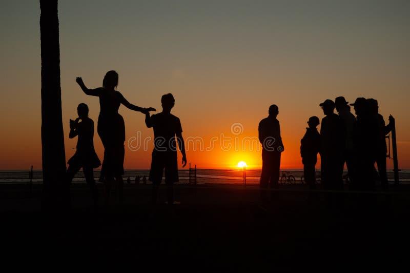 Ηλιοβασίλεμα παραλιών της Βενετίας στοκ εικόνες με δικαίωμα ελεύθερης χρήσης