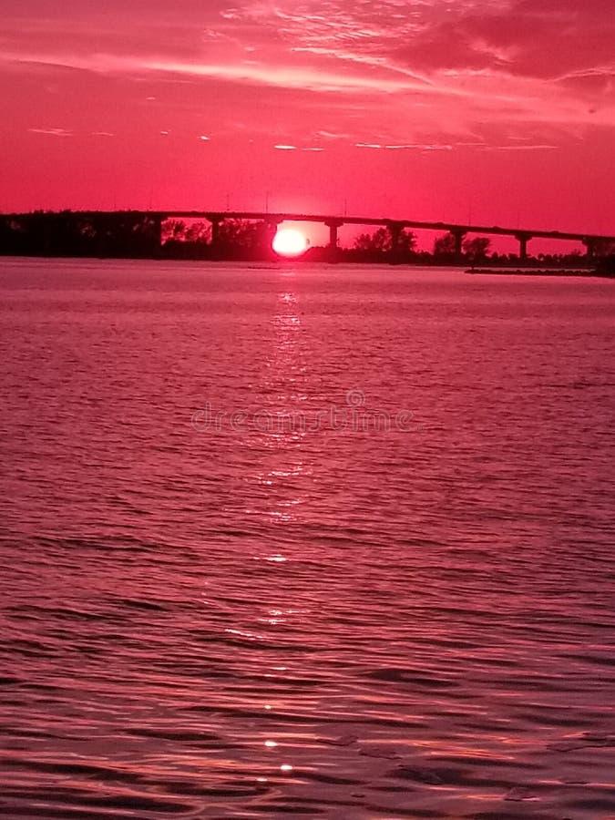 Ηλιοβασίλεμα παραλιών Clearwater στοκ εικόνα
