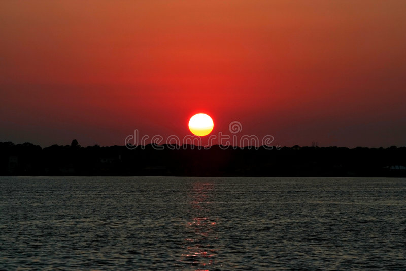 ηλιοβασίλεμα ποταμών myakka στοκ φωτογραφίες