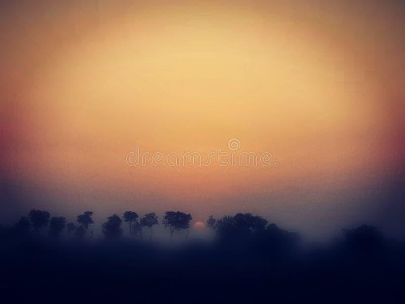 Ηλιοβασίλεμα που παρουσιάζει καταπληκτική επίδραση στοκ εικόνες με δικαίωμα ελεύθερης χρήσης