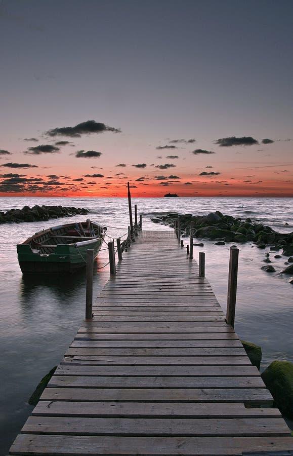 ηλιοβασίλεμα πρόσφατου στοκ εικόνες