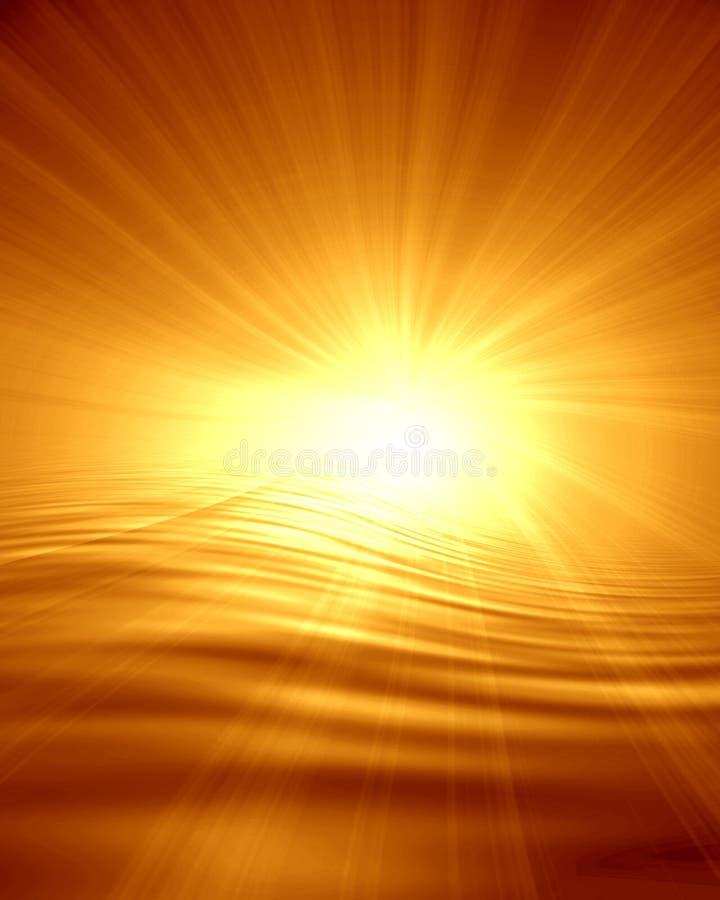 Ηλιοβασίλεμα πυράκτωσης διανυσματική απεικόνιση