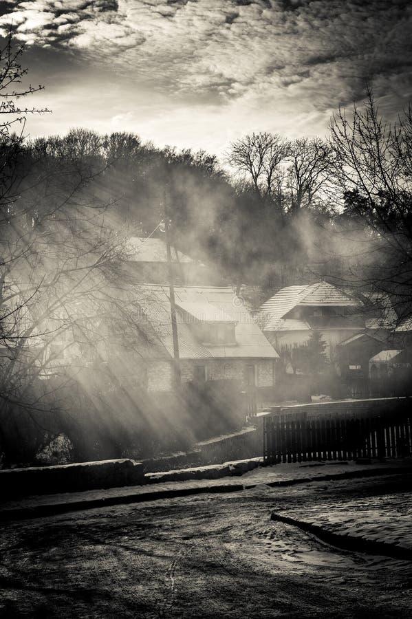 Ηλιοβασίλεμα σε Kazimierz dolny στοκ εικόνες