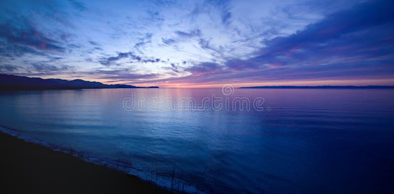 ηλιοβασίλεμα στενών de fuca Juan στοκ εικόνα