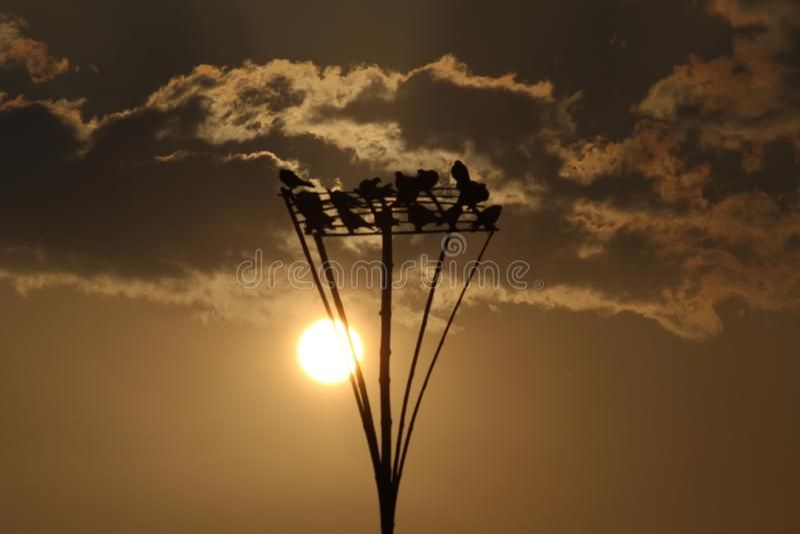Ηλιοβασίλεμα στην ανατολή στοκ εικόνες
