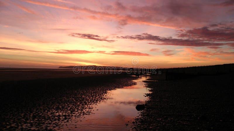 Ηλιοβασίλεμα στην επιφύλαξη λιμενικής φύσης σίκαλης στοκ φωτογραφίες