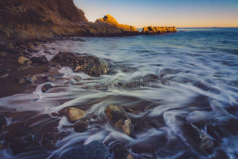 Ηλιοβασίλεμα στην παραλία Terranea στοκ φωτογραφία με δικαίωμα ελεύθερης χρήσης